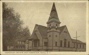 Ravena NY Church & Parsonage c1910 Postcard