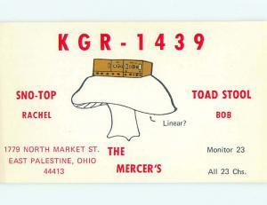comic - QSL HAM RADIO CARD East Palestine Ohio OH t1160
