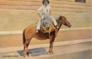 Cuban Mil Vender Horse Man Native Antique Postcard K103675