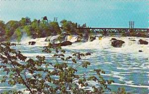 Maine Auburn Falls On The Androscoggin River