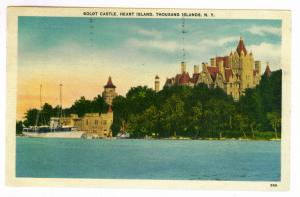Ottawa, Ontario to Portland, Maine 1955 PC, Boldt Castle, Thousand Islands