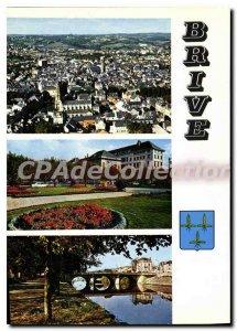 Modern Postcard Brive Correze Les Bords De La Vue Generale Post