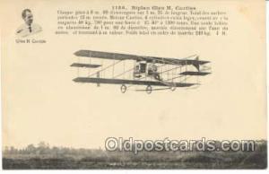 Early Air,  Airplane Postcard Postcards  Biplan Curtiss