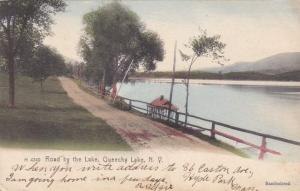 Road by Queechy Lake NY New York Columbia County 20 miles SE of Albany pm 1907