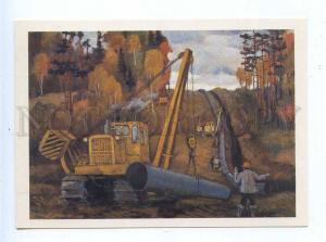 195693 RUSSIA Tomsk oil pipeline by Sapozhnikov postcard