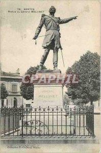 Postcard Old Nantes Statue Generale Mellinet