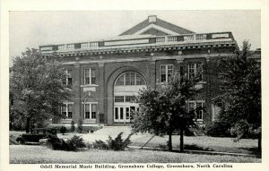 Vintage Postcard; Odell Music Building, Greensboro College, Guilford County NC