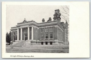 Lansing Michigan~Carnegie Library~Victorian Towers Gone Now~College~c1905