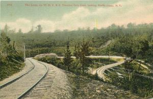 1909 Railroad Loop Train Postcard North Olean New York HLWB CO 12604