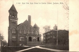 Michigan Jackson East Side High School and Central School Rotograph