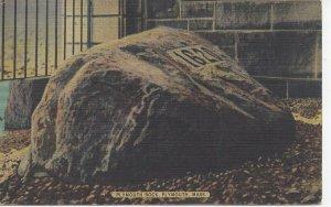 Postcard MA Massachusetts Boston Plymouth Rock Posted 1948 Linen