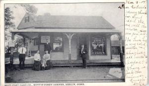 BERLIN, CT Connecticut   Mott's POST CARD COMPANY!   Scarce  1907  Postcard