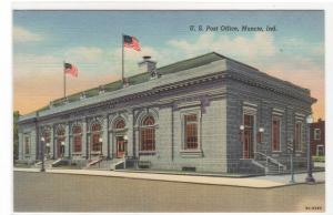 Post Office Muncie Indiana postcard