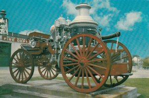 BLIND RIVER, Ontario, Canada, 1950-60s; The 1907 Pumper Wagon Monument Old F...