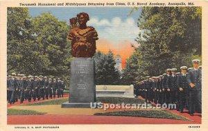Tecumseh Monument & Midshipmen in Annapolis, Maryland