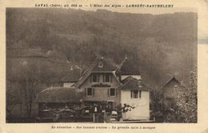 CPA Laval (Isere) alt 605 m - L'Hotel des Alpes - Lambeat- Barthelemy (123797)