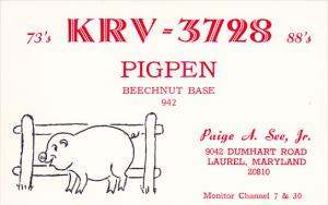 K R V - 3 7 2 8 Pigpen Laurel Maryland Paige A See Jr