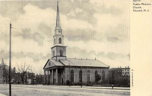 Newark New Jersey~Peddie Memorial Church~Neighborhood in Background~c1905 PC