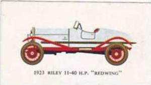 Mobil Oil Vintage Trade Card Vintage Cars 1966 No 3 Riley 11-4- H.P. Redwing ...