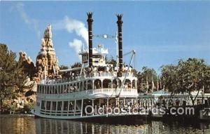 Gatherin' Steam, Frontierland, Mark Twain Disneyland, Anaheim, CA, USA Postca...