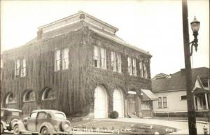 Roseburg OR City Hall Fire Station Real Photo Postcard