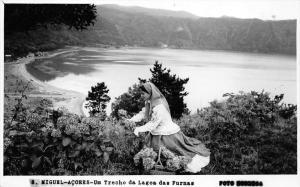 11496  Azores Sa0  Miguel 1950's   Um Trecho da Lagoa das Furnas