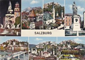 Austria Salzburg Multi View 1962 Real Photo