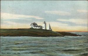 Nash Island Lighthouse Maine c1910 Postcard