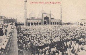 DELHI, India, 1900-10s; Last Friday Prayer, Juma Masjid