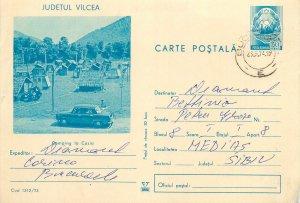Romania postal stationery postcard Cozia camping site