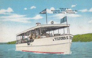 LAKE GENEVA,Wisconsin, 1930-1940s ; Tilford S Wisconsin Transportation Co.