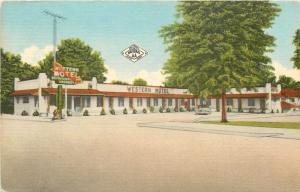 DeQueen Arkansas~Western Modern Motel~1940s PC