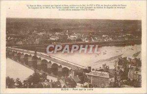 Postcard Old Bridge on the Loire Blois