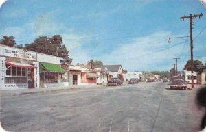 Rocky Point Long Island New York Shopping District Vintage Postcard JE359798