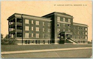 Bismarck, North Dakota Postcard ST ALEXIUS HOSPITAL  Street View c1920s