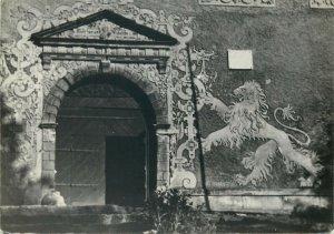 Postcard Poland Zagórze Slaskie Grodno Castle entrance