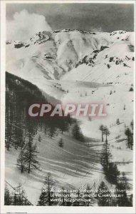 Postcard Modern Auron (A M) Winter Sports Resort Le Vallon and the Cime de Ch...