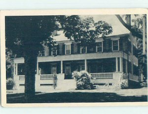 1940's INN SCENE Essex - Near Plattsburgh New York NY AE0470