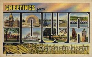 Iowa Large Letter State States Post Cards Postcards  Iowa USA