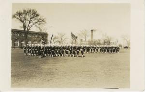 US American Soldiers Military Company 6 Great Lakes USA 1939 RPPC Postcard D16