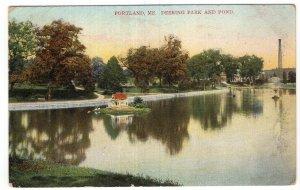 Portland, Me, Deering Park and Pond