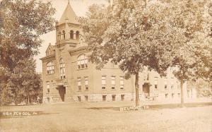 Belmond Iowa~Stout Belltower~Stone Foundation~High School c1914 RPPC