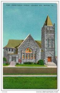 First Presbyterian Church, College Ave, Beaver, Pennsylvania, 30´s- 40´s