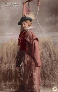 Vintage Photo Postcard Fedak Sari Janos Vitez Hungarian actress singer