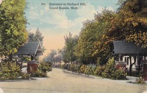 Entrance to Orchard Hill, Grand Rapids, Michigan, PU-1913