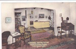 West Virginia Lewisburg Historic Hotel Desk General Lewis Hotel Albertype
