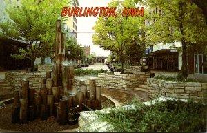 Iowa Burlington Steamboat Walk Jefferson Street