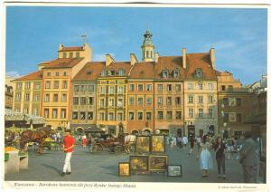 Poland, Warsaw, Baroque burgher's buildings on the Old Town Square