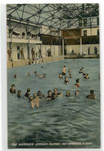 Mammoth Springs Indoor Swimming Pool Hot Springs South Dakota 1908 postcard