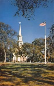 Cape Cod Mass~Congregational Church And Town Green At Falmouth~1960 PC